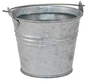 bucket of water